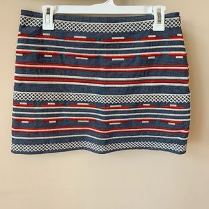 THML embroidered chambray mini skirt #831